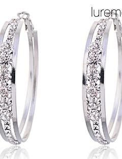 Ring oorbellen Kristal imitatie Diamond Legering Cirkelvorm Sieraden Voor Feest Dagelijks