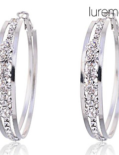 Kreolen Krystall Imitation Diamant Aleación Schmuck Party Alltag