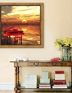 Landschaft / Stillleben Gerahmtes Leinenbild / Gerahmtes Set Wall Art,PVC Goldfarben Kein Passpartout Mit Feld Wall Art