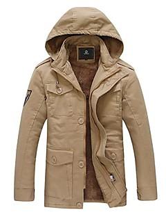 男性の冬暖かい綿のコート厚いコート