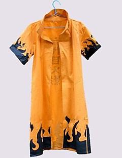 Inspired by Naruto Naruto Uzumaki Anime Cosplay Costumes Cosplay Suits Print Orange Half-Sleeve Cloak