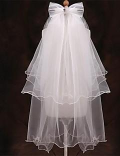 Bruidssluiers Vijf-tier Vingertopsluiers Potloodrand 47,24 in (120 cm) Tule