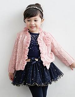 Mädchen Kleidungs Set Blumen Baumwollmischung Frühling / Herbst Rosa