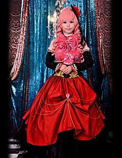 Inspirado por Vocaloid Megurine Luka Vídeo Jogo Cosplay Costumes Ternos de Cosplay Patchwork Vermelho Sem MangasVestido / Peça para