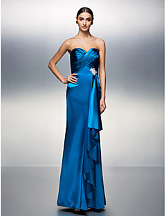TS Couture Prom / Formal Evening Dress - Ocean Blue Plus Sizes / Petite Sheath/Column Sweetheart Floor-length Charmeuse