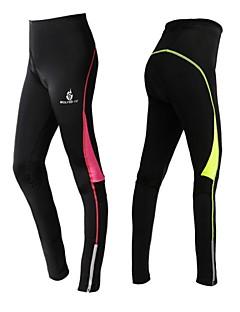 WOLFBIKE מכנסי רכיבה לנשים אופניים טייץ רכיבה על אופניים שורטים (מכנסיים קצרים) מרופדים נושם ייבוש מהיר 3D לוח ספנדקס פוליאסטר סיליקון