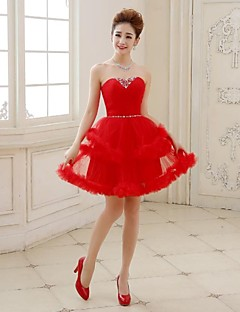 Cocktail Party Dress - Ruby Plus Sizes A-line / Princess Sweetheart Short/Mini Tulle
