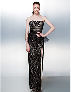 Homecoming Homecoming/Prom/Formal Evening Dress - Champagne Sheath/Column Sweetheart Floor-length Lace