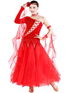 Ballroom Dance Outfits Women's Tulle / Velvet S:128cm,M:128cm,L:130cm,XL:133cm,XXL:135cm