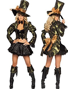 Cosplay Costumes / Party Costume Movie/TV Theme Costumes Festival/Holiday Halloween Costumes Black Solid Dress / Hat Halloween Female