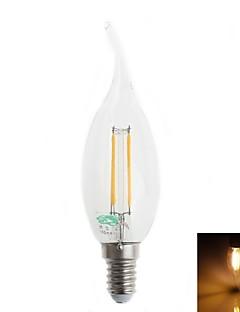 Zweihnder E14 4 W 4 380 LM Warm White CA Decorative LED Filament Lamps AC 220-240 V