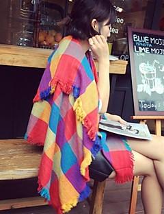여성의 패션 모든 매칭 대비 색의 격자 패턴 숄 (더 많은 색상)