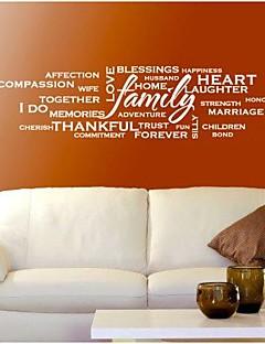 wall stickers Vægoverføringsbilleder, moderne familie tilbud pvc væg klistermærker.