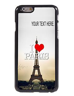 """capa de metal para iphone 6 (4.7 """") coração"""