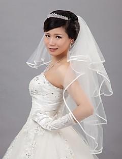 Hochzeitsschleier mit vier Schichten Walzer Schleier