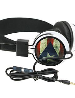 auriculares wzs- ergonómica hi-fi estéreo con micrófono mic -Puerto bandera rico - negro