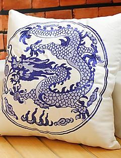 kinesisk drake mönster bomull / linne dekorativa örngott