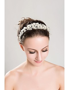 Women's/Flower Girl's Rhinestone/Imitation Pearl Headpiece - Wedding/Special Occasion/Outdoor Tiaras/Headbands