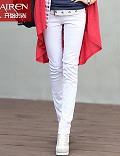 versione muairen®women'korean dei jeans stretch bianco Piedi