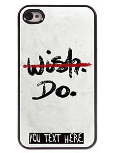 caixa personalizada nenhum desejo, mas não projetar caixa de metal para iPhone 4 / 4S