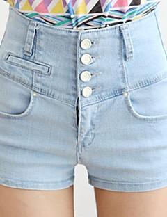 sagetech®women's hoge taille stretchy denim korte broek