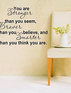 muurstickers muur stickers, je bent sterker engels woorden&citeert pvc muurstickers