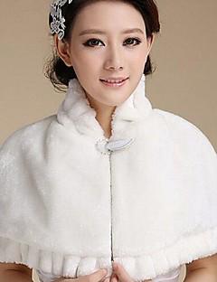 패션 가짜 모피 모조 다이아몬드 따뜻한 결혼식 (프리 사이즈) 볼레로 어깨를 으쓱 랩