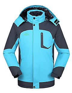 Deshengren Winter Men's Two Pieces Three-in-one Windproof Thermal Ski Jacket