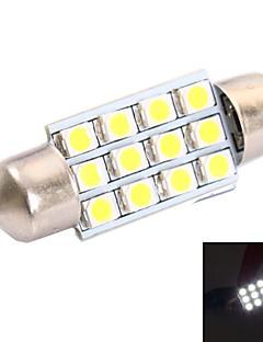 36 millimetri di 3W 150LM 6000K 12x3528 SMD LED bianco per l'automobile lettura / Targa / Lampada porta (DC12V, 1Pcs)