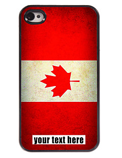Personalized Case Canadian Flag Design Metal Case for iPhone 4/4S