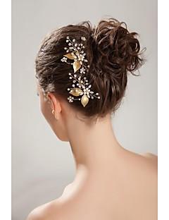 Women's Flower Girl's Rhinestone Crystal Imitation Pearl Headpiece-Wedding Special Occasion Outdoor Headbands Hair Combs