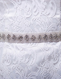 Satin / Satin/ Tulle Wedding / Party/ Evening / Dailywear Sash-Rhinestone Women's 98 ½in(250cm) Rhinestone