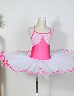 Roupas de Dança para Crianças Vestidos Crianças Algodão / Elastano / Tule Sem Mangas CM:110:50,120:53,130:56,140:59,150:61