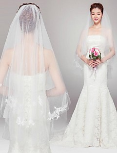 Wedding Veil One-tier Elbow Veils Cut Edge 70.87 in (180cm) Tulle