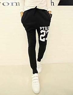 Men's Print Casual Sweatpants,Cotton / Cotton Blend Black / Gray