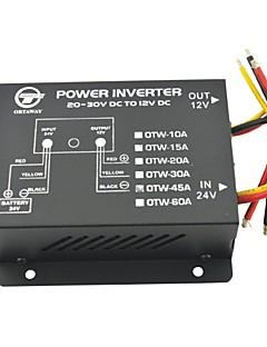 Vehicle Car DC 24V to 12V 45A Power Supply Transformer Converter-Black