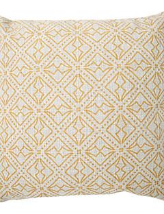 """createforlife® 18 """"floral totems jaunes linge de coton coussin décoratif carré rétro"""