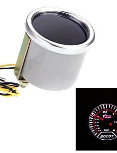 """2"""" 52mm Motor Car Bar Boost Gauge Universal Smoke Lens Indicator White Auto Meter"""