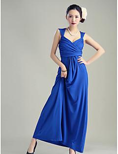 신부 들러리 드레스 - 로얄 블루/블랙 볼 가운 발목 길이 스위트하트 실크