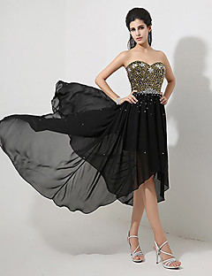 A-line Sweetheart Asymmetrical Evening Dress