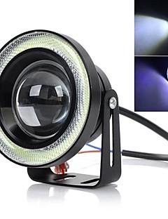 "exLED 3.5"" 10W LED Car Fog Lamp / Motorcycle Headlamp 6500K 1200lm Bright Light - Black"