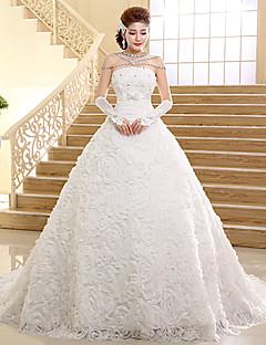 Ball Gown Wedding Dress Chapel Train Sweetheart Lace