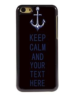 personalizado âncora caso e manter caso design de metal calma para iphone 5c