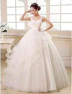 웨딩 드레스-볼 드레스 바닥 길이 스트랩 튤