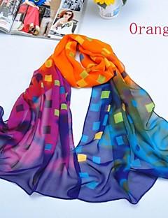 sjalar chiffong / polyestermulti rutnät halsdukar (fler färger)