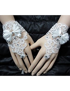 Håndledslængde Handske Fingerløse Fest-/aftenhandsker/Brudehandsker