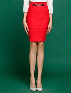 высокая талия сплошной цвет OL юбки женские (больше цветов)