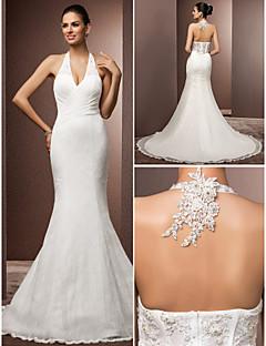 Lanting Bride® Trumpet / Mermaid Petite / Plus Sizes Wedding Dress - Classic & Timeless / Glamorous & DramaticVintage Inspired / Open