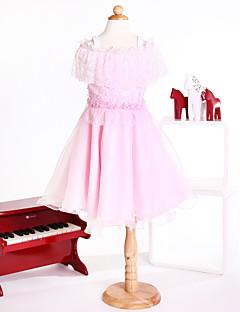 Flower Girl Dresses Princess  Off-the-shoulder Knee-length Tulle Dress