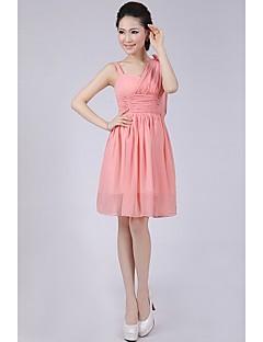 Short/Mini Bridesmaid Dress A-line/Princess Spaghetti Straps